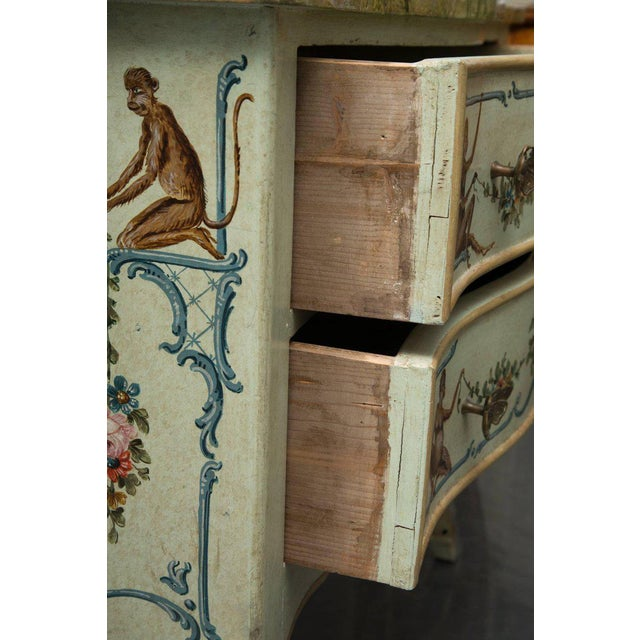 Venetian Hand-Painted Serpentine Commode For Sale - Image 4 of 10