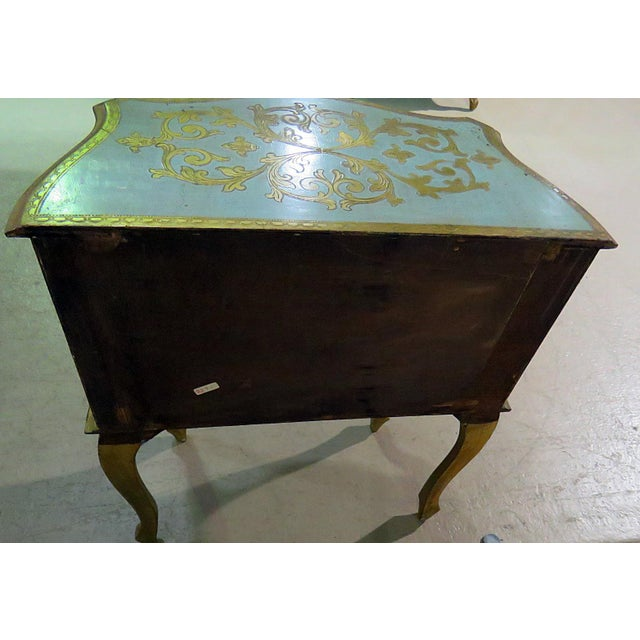 Antique Louis XV Style Distressed Painted Side Table For Sale - Image 4 of 9