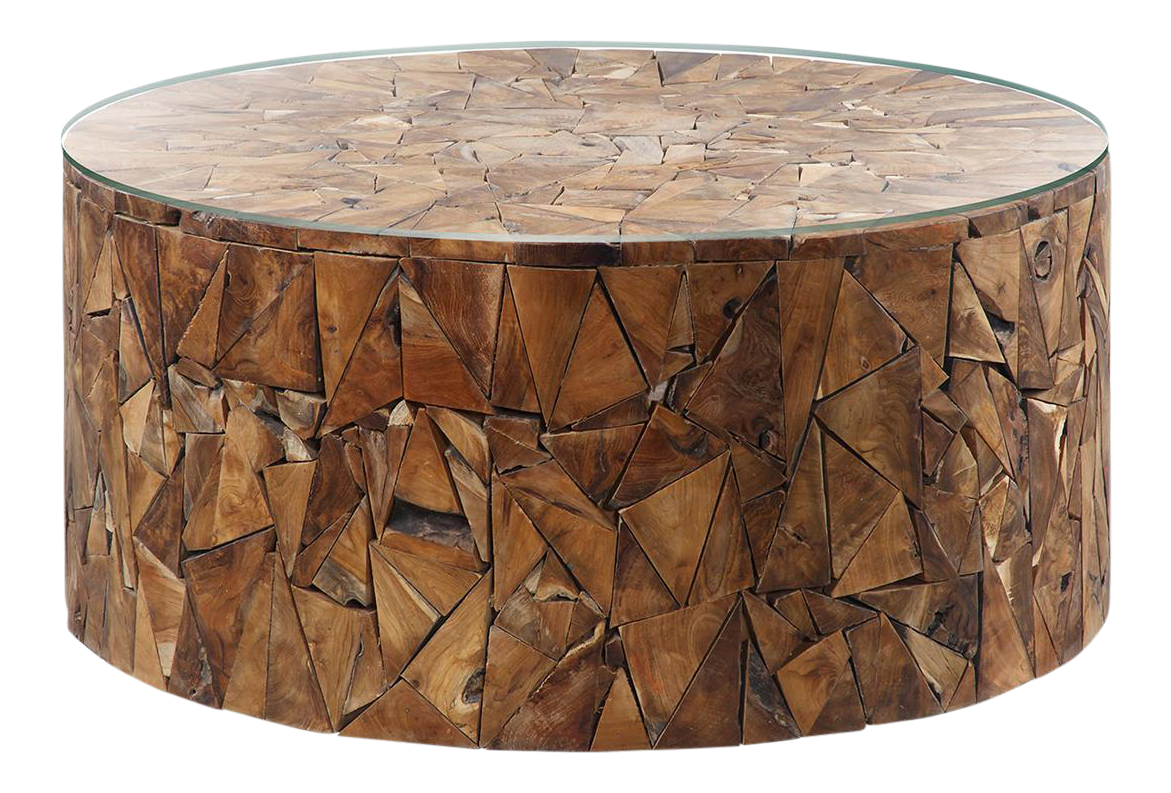 Modern Teak Chip Coffee Table