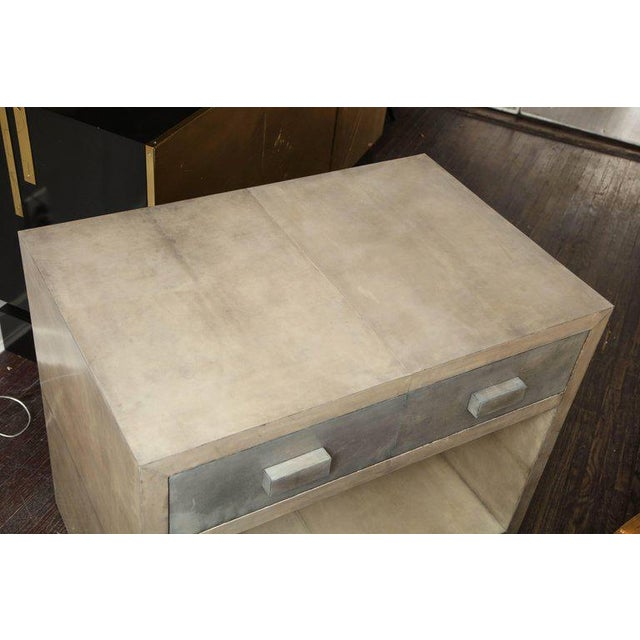 Venfield Pair of Parchment Nightstands For Sale - Image 4 of 10