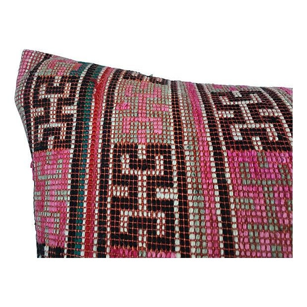 Antique Handwoven Tribal Pillow - Image 5 of 7
