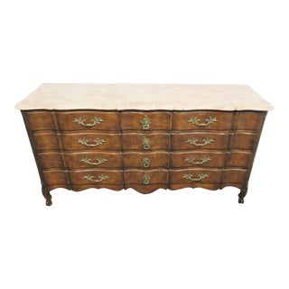 Louis XV Custom Faux Painted Marble Top Dresser For Sale