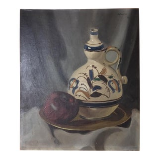 Untitled 1940's Still Life Painting by Ralph E. Entwistle
