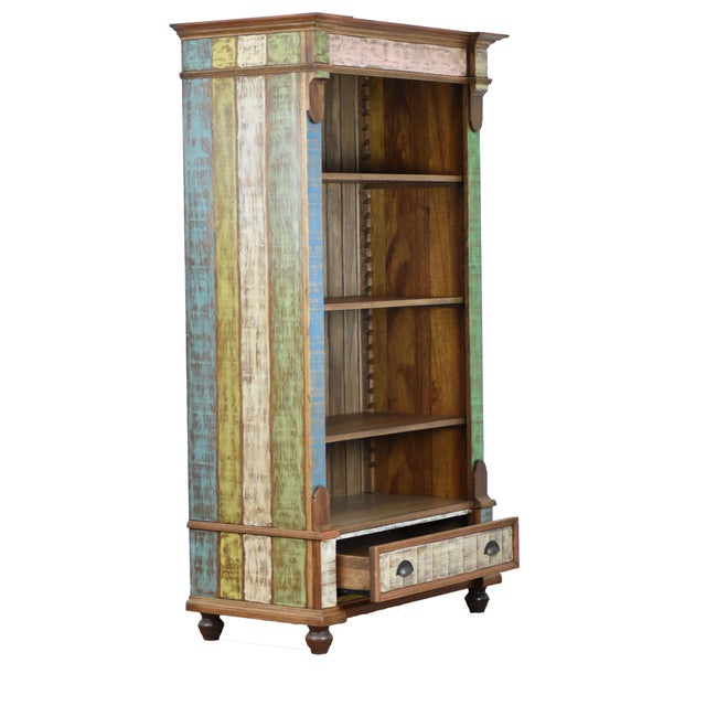 Show off your favorite books, items, and memories on this 4-shelf bookcase with a large drawer for hidden storage. Made...