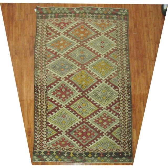 Vintage Geometric Kilim Rug - 6'1'' X 10'6'' - Image 2 of 5