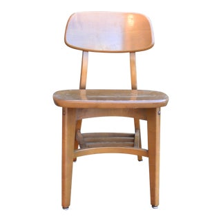Mid Century Vintage Wood Side Chair For Sale