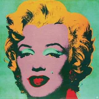 Andy Warhol, Marilyn Green (Sm), Offset Lithograph, 1999 For Sale