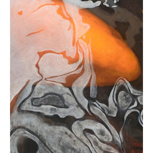 "Laurie Flaherty Laurie Flaherty ""Phoenix"" Contemporary Koi Fish Realist Oil Painting For Sale - Image 4 of 6"