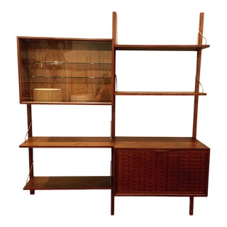 Poul Cadovius Two Bay Royal Wall System in Walnut For Sale