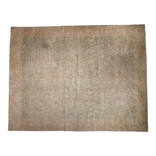 "Vintage Distressed Sivas Carpet - 11'9"" X 15'1"" For Sale"