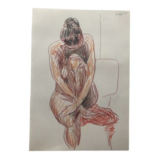 Nude Lady Drawing by James Bone 1990s For Sale