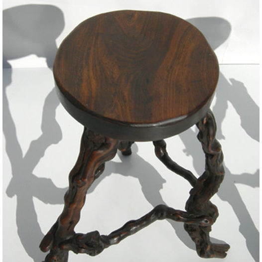 Wacky Burled Root Bar and Stools - Image 7 of 8