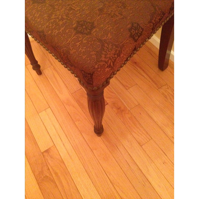 Brown Cherry Wood Side Chairs - A Pair For Sale - Image 8 of 8