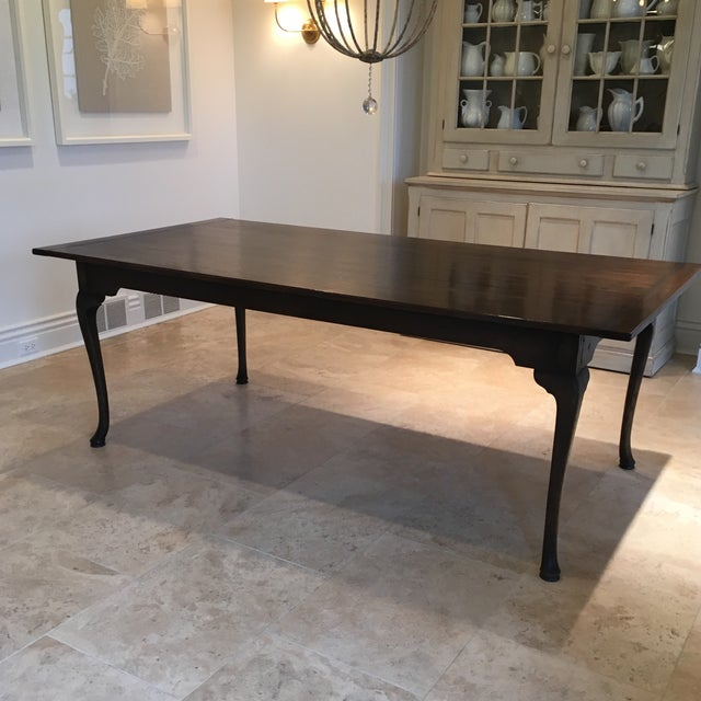English Traditional Custom English Oak Dining Table For Sale - Image 3 of 11