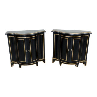 Pair of Baker Directoire Style Cabinets For Sale