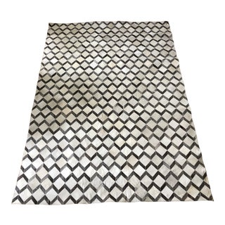 """Cassandra"" Hand Made Geometric Pattern Cowhide Rug by Kravet - 8′ × 11′ For Sale"