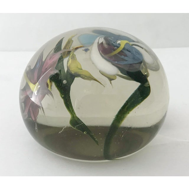 Glass Italian Murano Glass Paperweight For Sale - Image 7 of 9