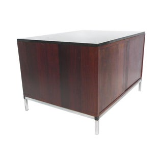 Mid-Century Rosewood & Marble-Top Cabinet For Sale