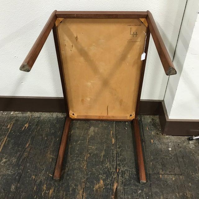 Brown Hans Olsen Danish Modern Teak Side Table For Sale - Image 8 of 10