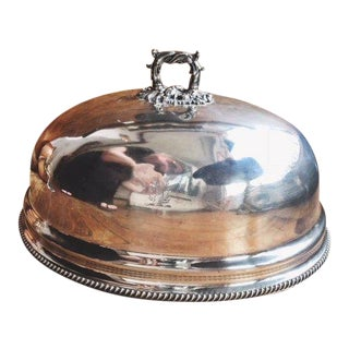 19th Century Georgian Silver Plated Dome With Armorial Engraving For Sale