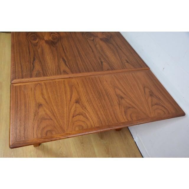 Danish Modern Mid-Century Danish Teak Draw Leaf Dining Table For Sale - Image 3 of 11