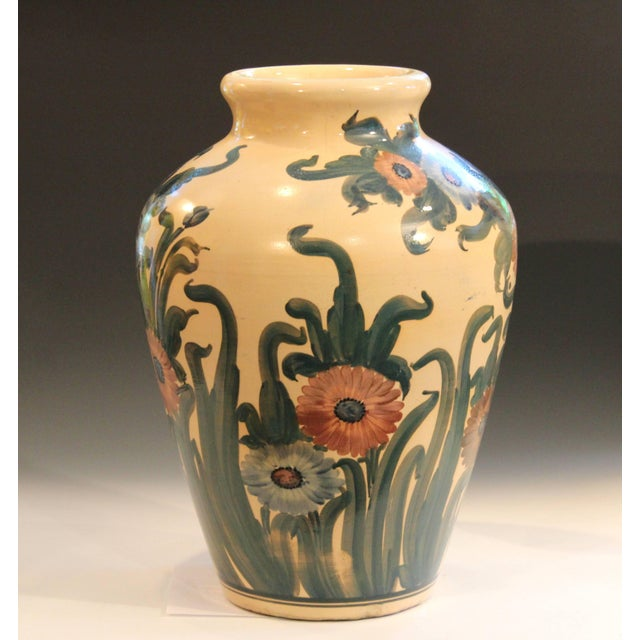 Robinson Ransbottom Pottery Co. Big Rrp Co Robinson Ransbottom Roseville Garden Urn Pottery Porch Floor Vase For Sale - Image 4 of 11