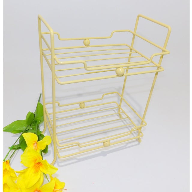 Late 20th Century 20th Century Comtemporary Yellow Strawflower Metal Rack For Sale - Image 5 of 6
