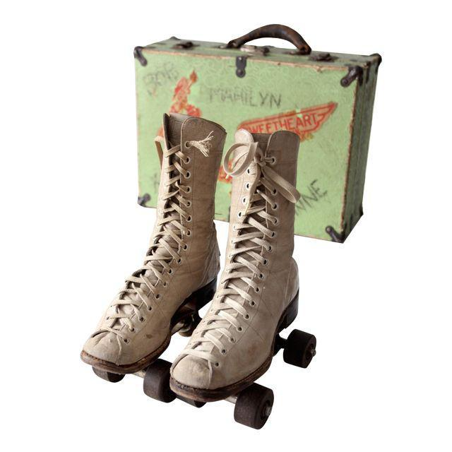 1940s Chicago Roller Skates with Case - Image 1 of 9