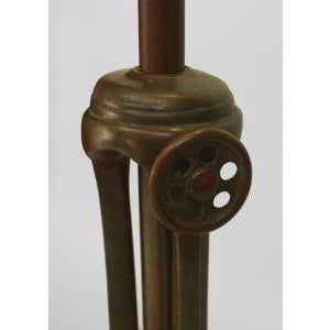 Mid 20th Century American Mission Bronze Floor Lamp For Sale In New York - Image 6 of 11
