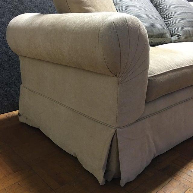 Kreiss Tan Giverny Sofa & Ottoman - Image 5 of 10