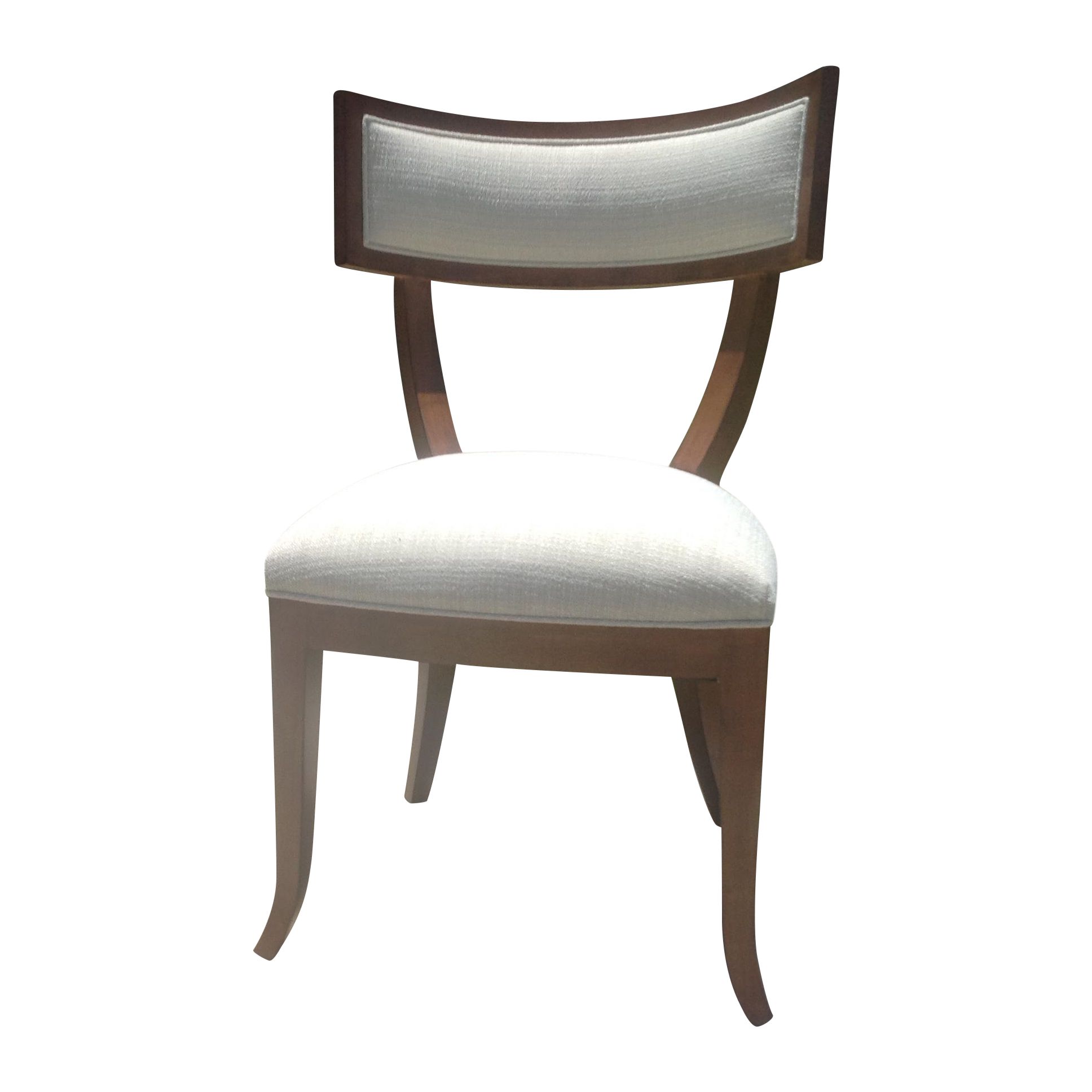 Modern Mid Century Style Klismos Dining Chair   Image 1 Of 7