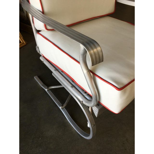 1950s Mid-Century Aluminum Springer Rocking Chair For Sale - Image 5 of 7