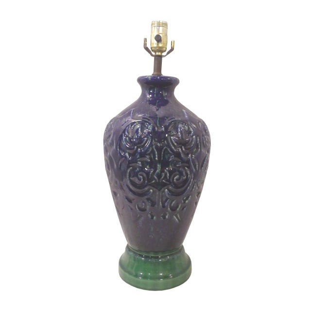 Blue Ginger Jar Ceramic Lamp - Image 2 of 6