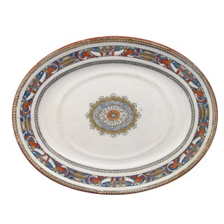 Antique Minton English Transferware Platter, C. 1875 For Sale