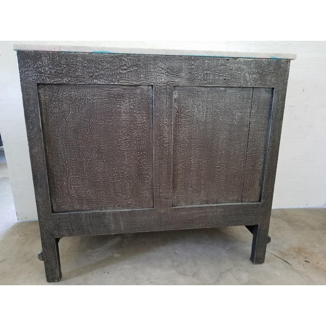 Vintage French Faux Bamboo Chest For Sale - Image 5 of 9
