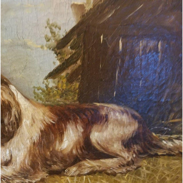 Late 19th Century 19th C. English Springer Spaniel Dog Painting For Sale - Image 5 of 7