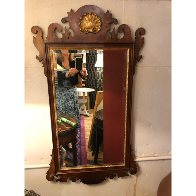 1950s Vintage Traditional Henkel Harris Mahogany Neoclassical Mirror For Sale - Image 9 of 9