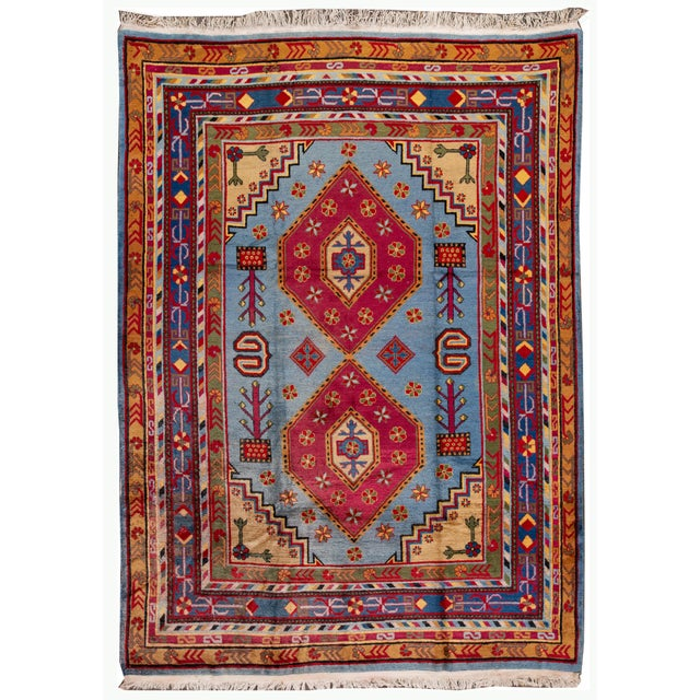 Mid-20th Century Vintage Khotan Rug 6' 10'' X 9' 7''. For Sale - Image 13 of 13