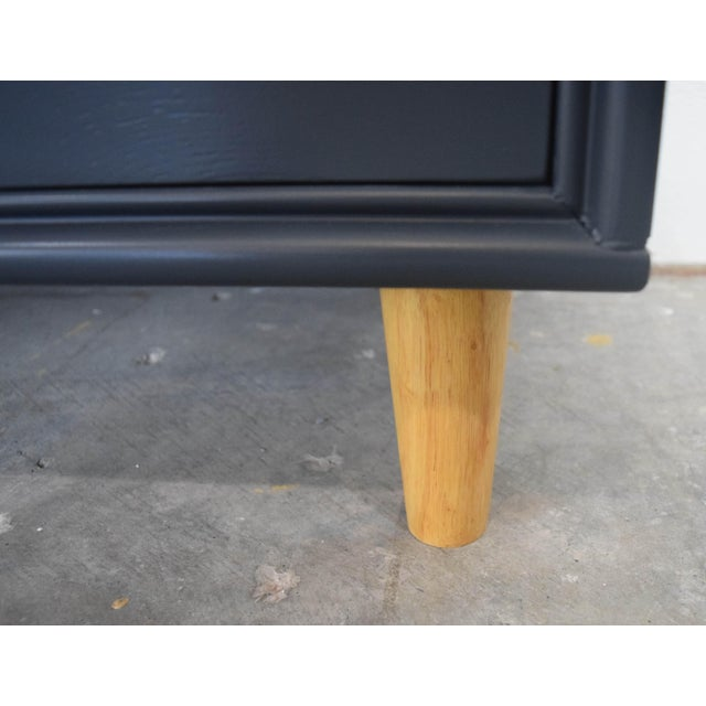 Mid Century Modern Mismatch Black Large Nightstands - a Pair For Sale - Image 9 of 13