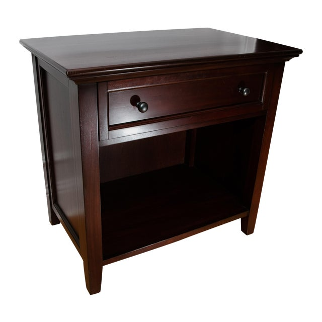 Pottery Barn Side Table with Deep Drawer - Image 1 of 3