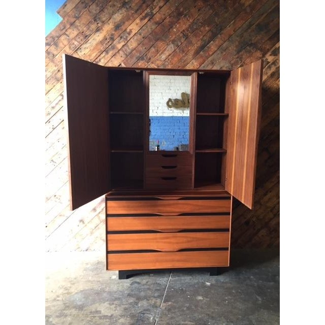 John Kapel Mid-Century Walnut Armoire - Image 6 of 8