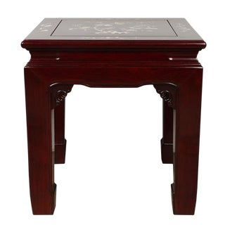 20th Century Chinese Rosewood With Mop Inlayed End Table For Sale