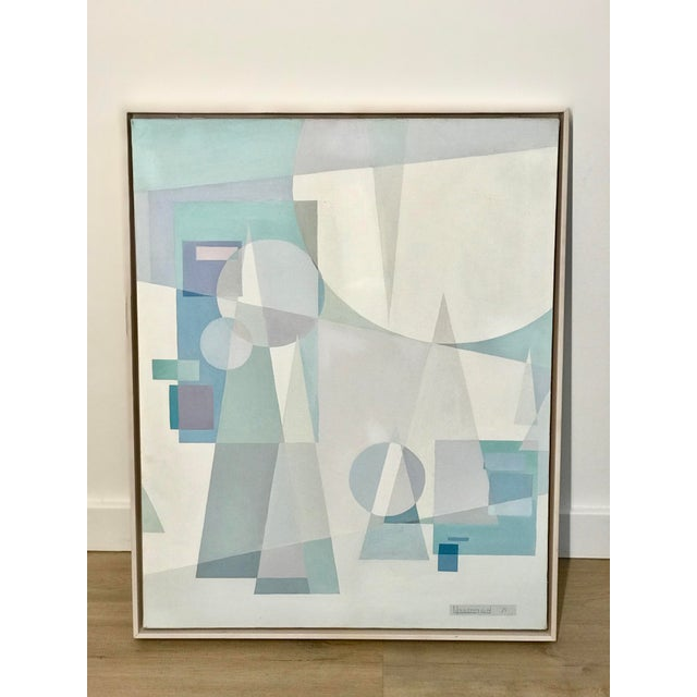 Original Mid Century German Cubist Painting, Signed by Artist 1971 For Sale - Image 13 of 13