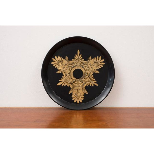 Gold 1950s Piero Fornasetti Three Kings Serving Tray For Sale - Image 8 of 8