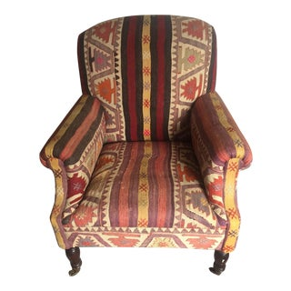 1990s Vintage George Smith Kilim Chair For Sale