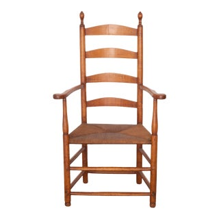 19th Century Shaker Elder's Ladderback Armchair C.1850-1880 For Sale
