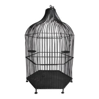 French Modern J Deris Black Lampe Cage Chairish - Small-white-light-cage-by-josselin-deris