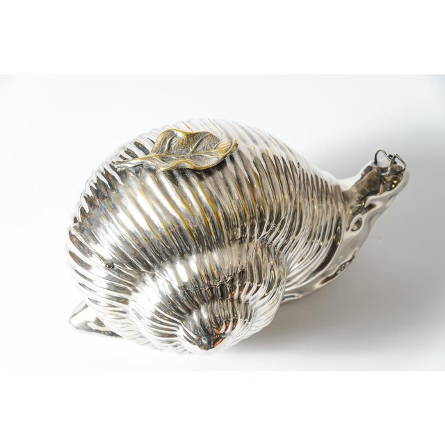 Figurative Italian Fabulous Snail Ice Bucket Made by Teghini in Florence C.1970 For Sale - Image 3 of 13