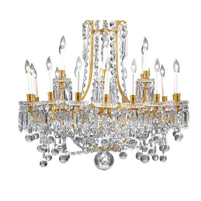 Hollywood Regency Baccarat Crystal Twenty-Four-light Chandelier For Sale - Image 3 of 4