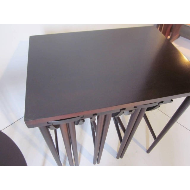 Mid-Century Modern Bertha Schaefer Nesting Tables by Singer and Sons - set of 4 For Sale - Image 3 of 7